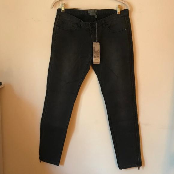 Ted Baker London Denim - ted baker side zip skinny jeans dark wash